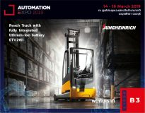REACH TRUCK WITH FULLY INTEGRATED LITHIUM-ION BATTERY