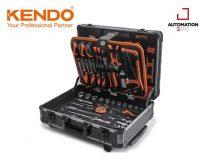 KENDO 90703 ชุดเครื่องมือ 161 ชิ้นพร้อมกระเป๋าอลูมิเนียม 460×330×150mm