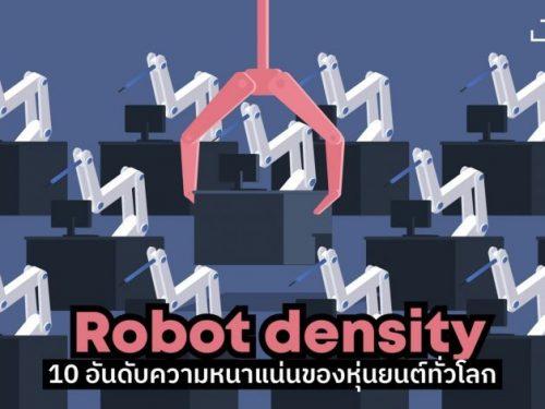 Robot density | 10 อันดับความหนาแน่นของหุ่นยนต์ทั่วโลก